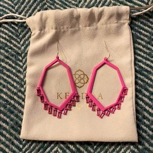 Matte Pink Kendra Scott Thomas Drop Earrings